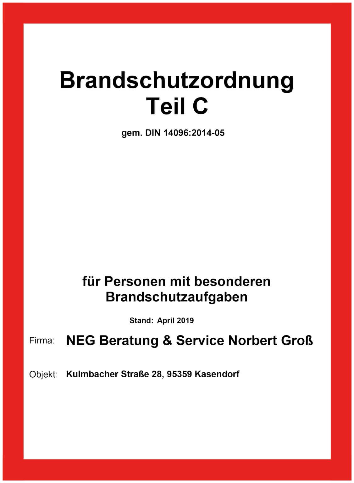 Brandschutzordnung Nach Din 14096 Tuscheteam Cad Service 7